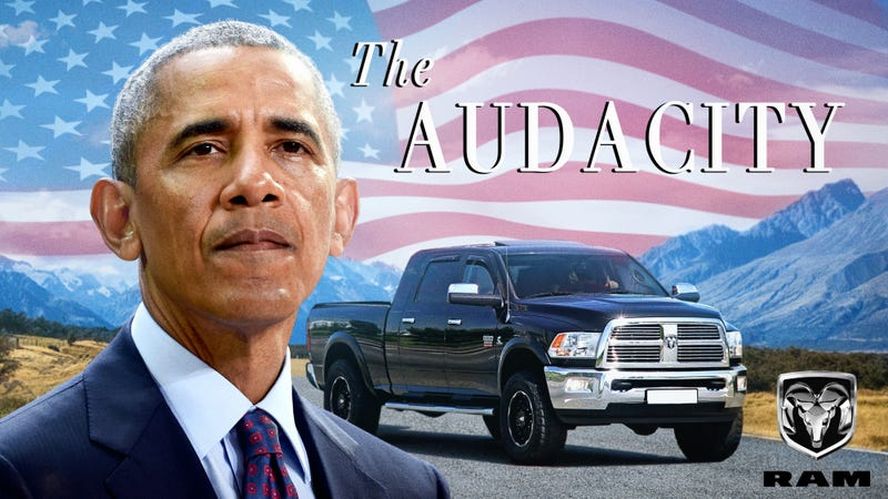 Illustration for article titled Obamas Sign Exclusive 6-Truck Deal To Produce Series Of Mid-Size RAM Pickups