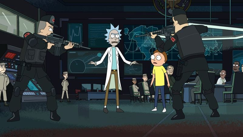 """Illustration for article titled Rick And Morty: """"The Ricks Must Be Crazy"""""""