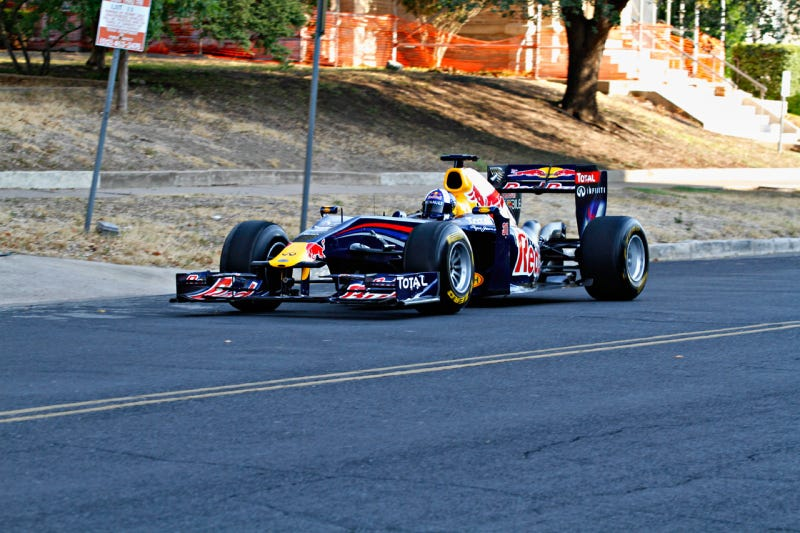 Illustration for article titled Red Bull Austin F1 David Coulthard Texas
