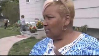 Ronica Copes of Lindenhurst, N.Y., received a hate letter on Thursday warning her to move out of the community, which is 84 percent white.PIX11 screenshot