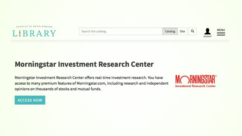 Get Morningstar's Premium Investment Reports for Free with