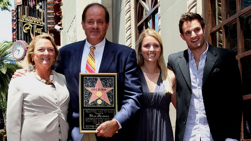 Chris Berman with his wife, Kathy, and their children, Meredith and Douglas, at a Hollywood Walk of Fame ceremony in 2010. Photo: Frederick M. Brown/Getty Images