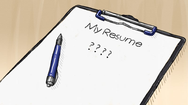 Doing a resume online