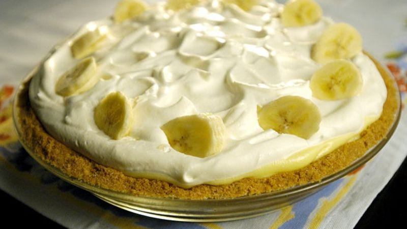 A banana cream pie much like the ones used in the study.
