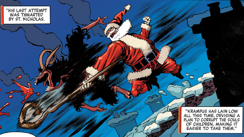 Illustration for article titled The Only Comic You Should Read Today Features Santa Beating the Crap Out of Krampus