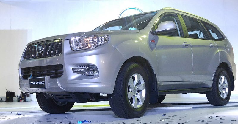 Illustration for article titled Is your Ford Everest (soon to be Bronco)/Holden/Chevy Trailblazer/Toyota Fortuner/4runner/Isuzu MU-X/whatever not nearly Chinese enough?