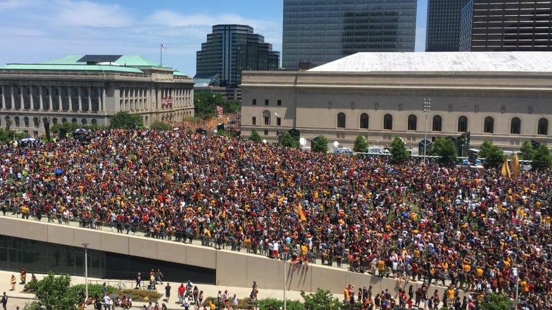 Photo of an actual basketball-related celebration via AP