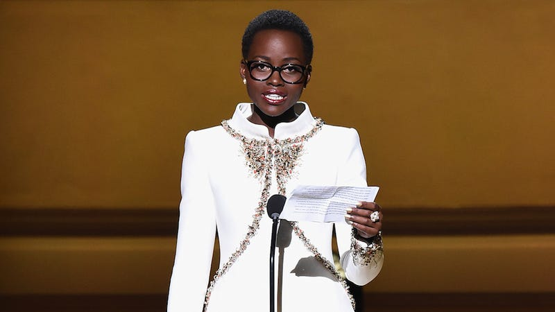 Illustration for article titled Lupita Nyong'o Cries, Inspires Praise Hands at Women's Conference