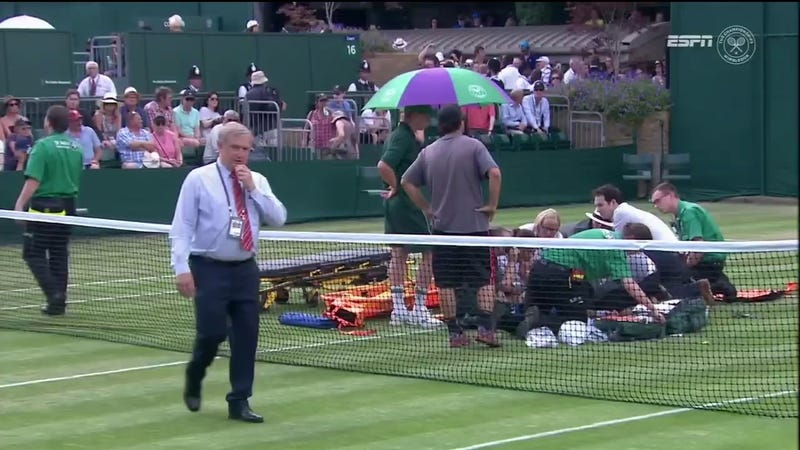 Illustration for article titled Bethanie Mattek-Sands Suffers Brutal Leg Injury At Wimbledon