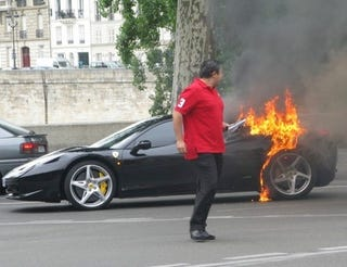 Illustration for article titled Ferrari 458 Italia Recalled Over Fire Risk (Unconfirmed)