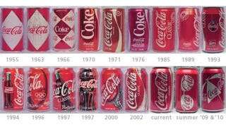Illustration for article titled How the Design of Soda Cans Have Changed Over Time