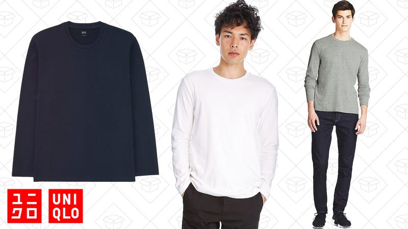 Soft Touch Crewneck Long-Sleeve T-Shirt | $6 | Uniqlo
