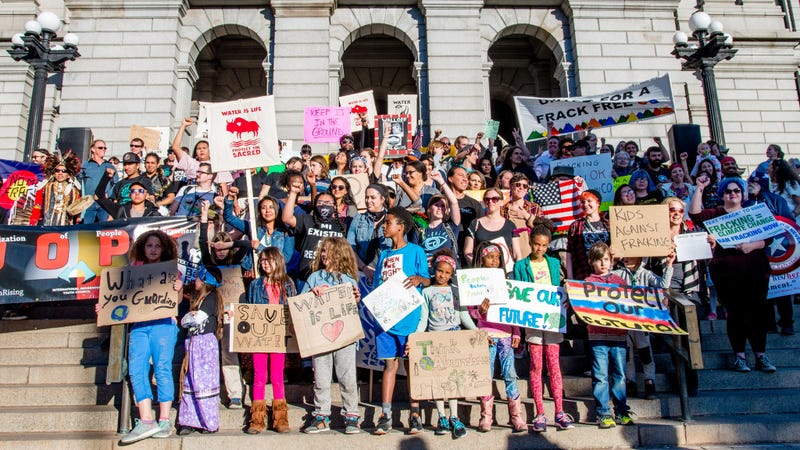 The youth plaintiffs stand before a courthouse in Denver February 20, 2017. All Photos: Christian ORourke / Flickr