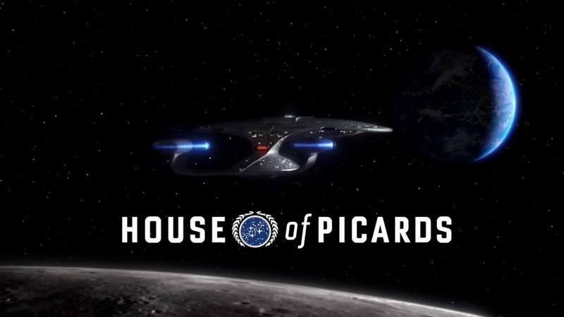 """Illustration for article titled """"House Of Picards"""" gives Star Trek's captain the Frank Underwood treatment"""