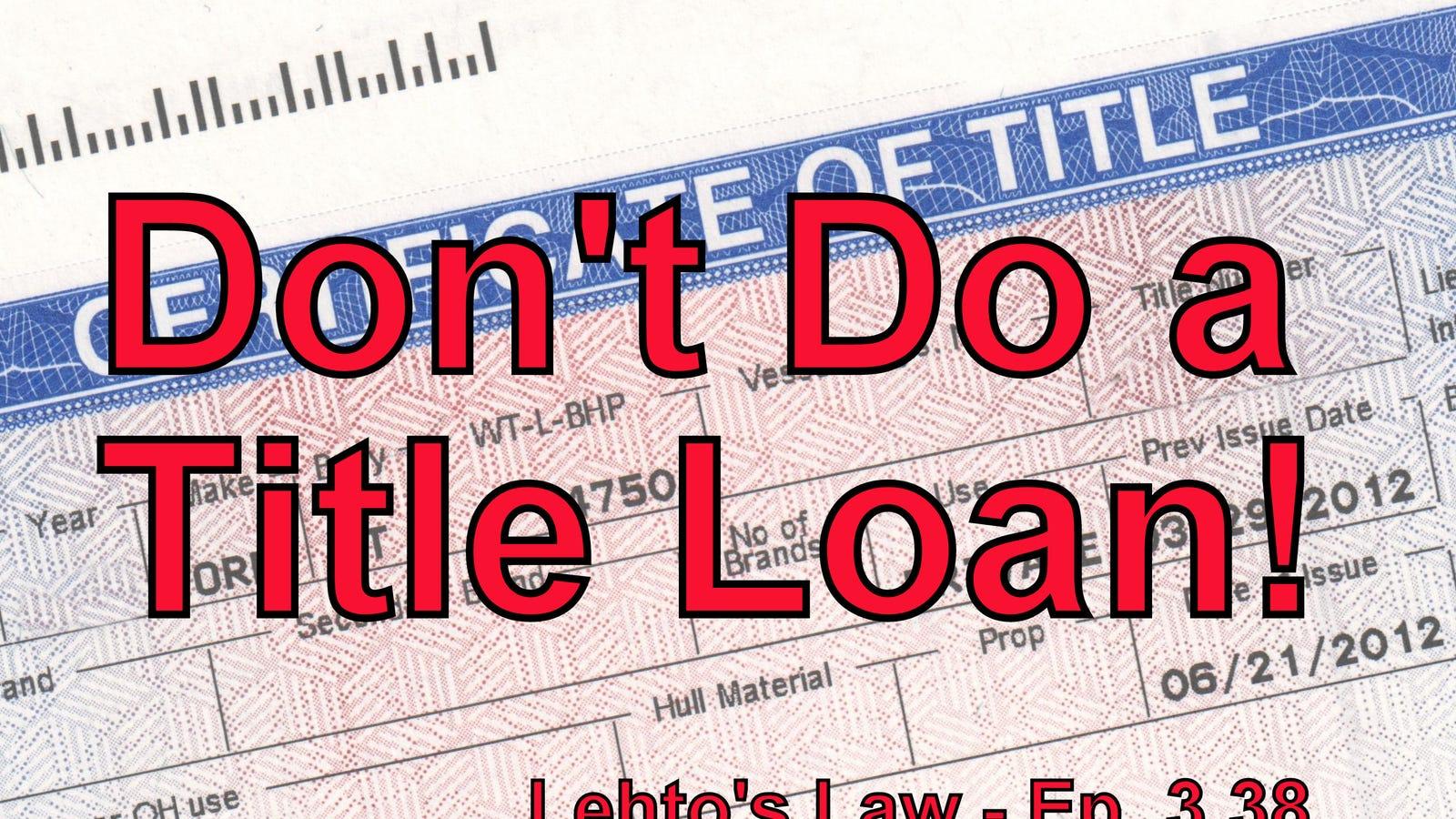 Cash Loan Against Car Title