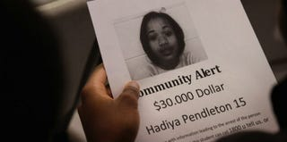 Flyer from a community meeting about Hadiya Pendleton's death (Scott Olson/Getty Images News)