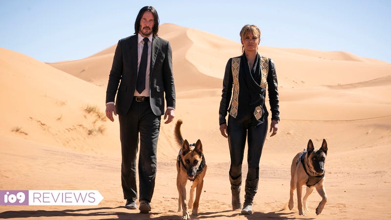 John Wick and Halle Berry in John Wick: Chapter 3 – Parabellum.