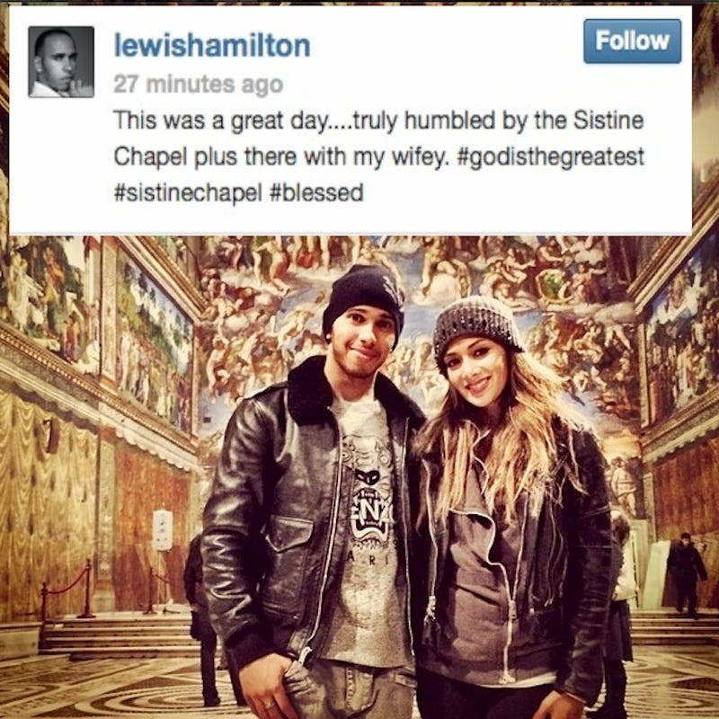 Illustration for article titled Lewis Hamilton Got Married?