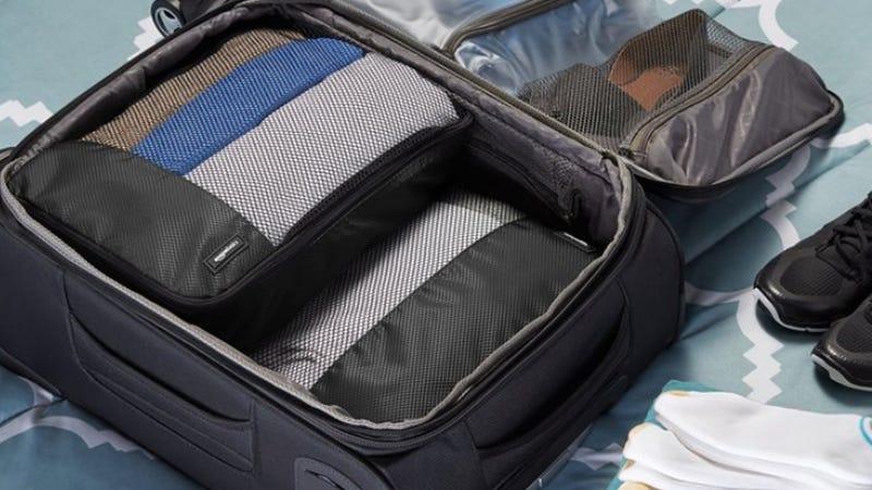AmazonBasics Packing Cube Set | $16 | Amazon | Black and Gray only