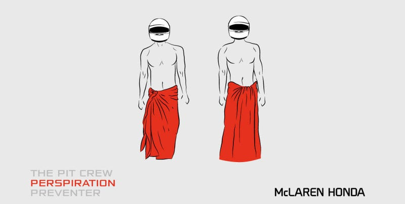 Illustration for article titled #McLarenSarong