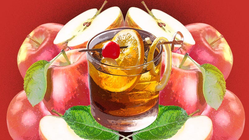Illustration for article titled An Apple Old Fashioned is autumn on the rocks