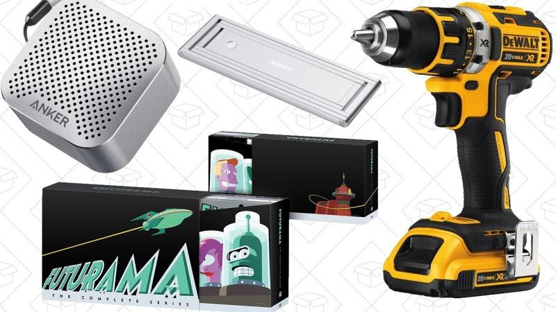 Illustration for article titled Las mejores ofertas del día: Futurama, herramientas de DEWALT, un altavoz diminuto de Anker y más