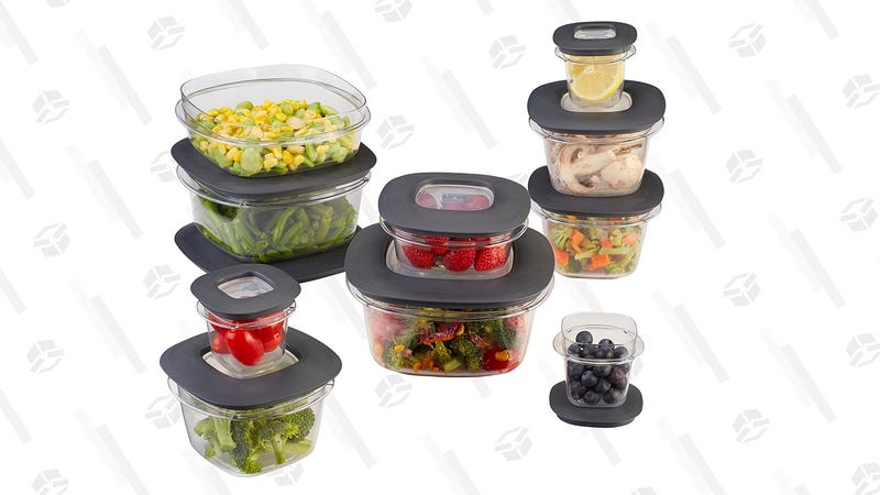 Rubbermaid Premier Easy Find Lids 20-Piece Food Storage Container Set, Grey | $26 | Amazon