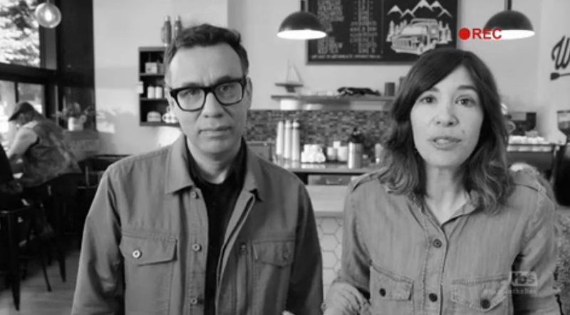 Fred Armisen, Carrie Brownstein (Screenshot: TBS)