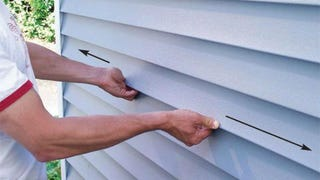 """Illustration for article titled Hang Vinyl Siding Correctly to Prevent the """"Pops"""""""