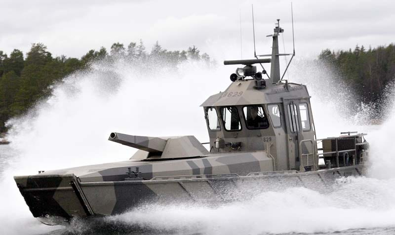 Illustration for article titled The Patria NEMO 'Mortar Boat' Is Small And Fast With A Huge Ass Gun