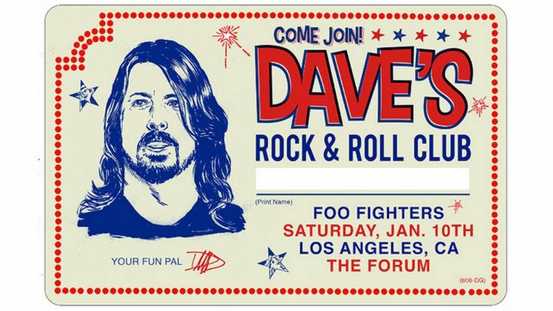 Illustration for article titled Dave Grohl is throwing himself a rock 'n' roll birthday party