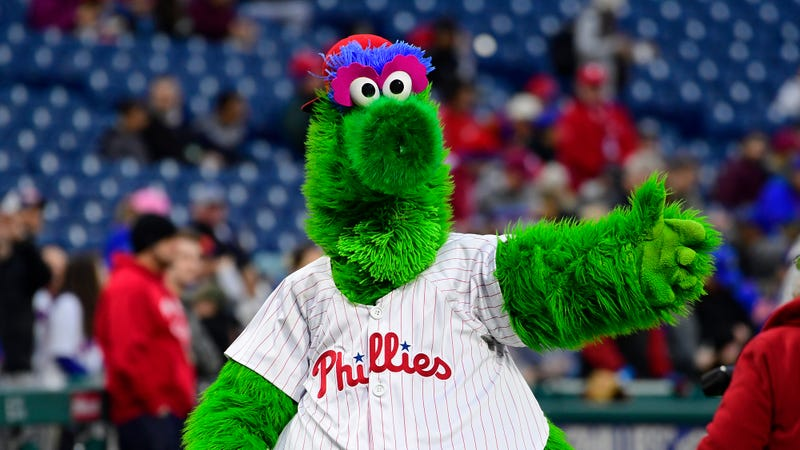 Illustration for article titled Important Policy Change: The Philadelphia Phillies Have Announced That The Phillie Phanatic Will Now Crawl Around On All Fours Like The Beast He Is