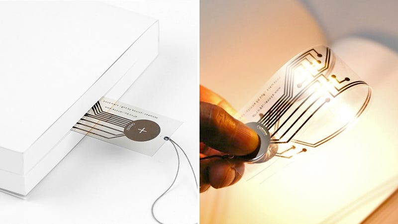Illustration for article titled Add a Battery and This Ultra-Thin Bookmark Becomes a Reading Light