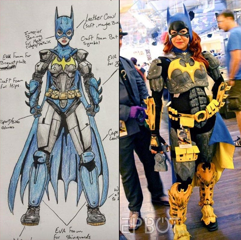 Illustration for article titled From Sketch To Batgirl