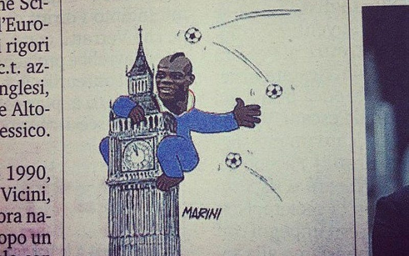 Illustration for article titled Even Italy's A Little Racist Toward Mario Balotelli