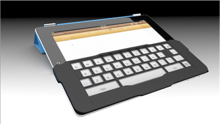 Illustration for article titled An iPad Keyboard That Lays On Top of the iPad (Updated)