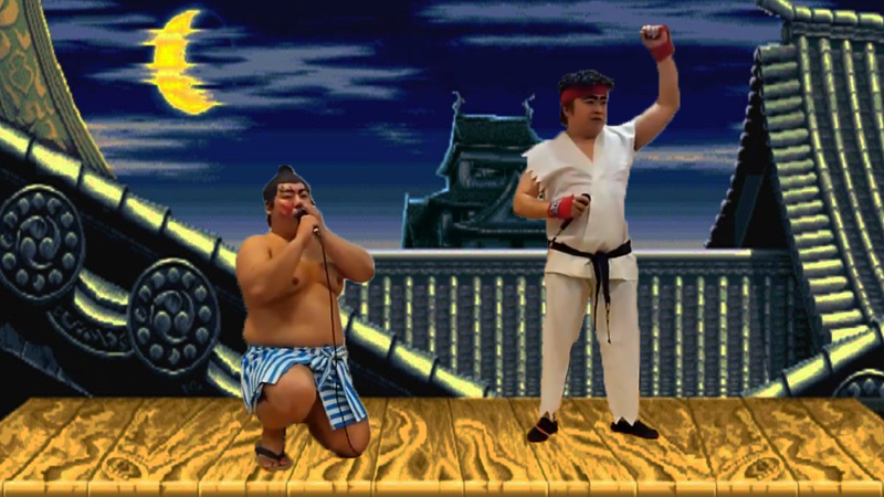 Illustration for article titled Two Guys Reenact Street Fighter II Match With Their Mouths