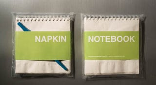 Illustration for article titled Napkin Notebook: An Idea so Good, It Must Have Been Written on a Napkin