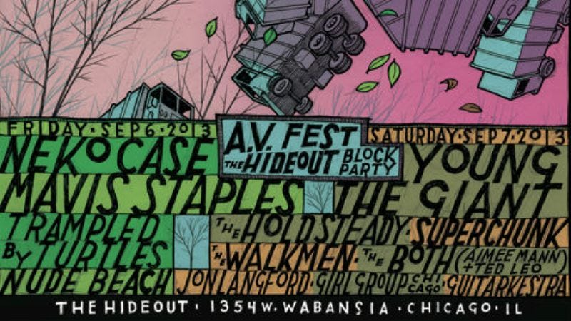Illustration for article titled A.V. Fest/Hideout Block Party single-day tickets on sale NOW