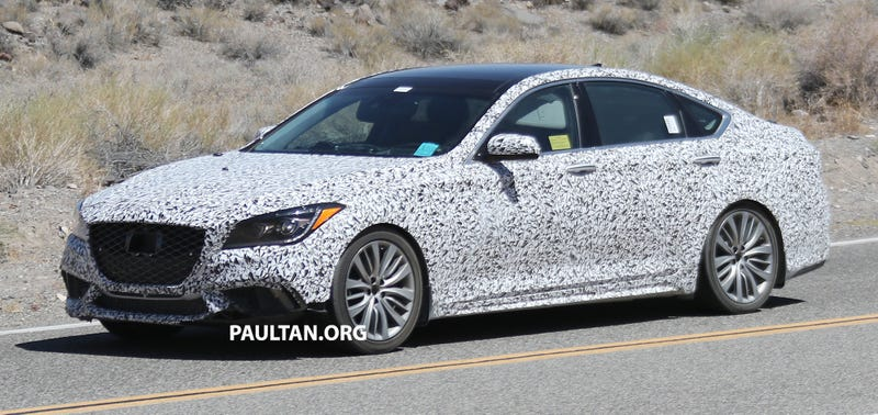 """Illustration for article titled Hyundai """"Hellaflush"""" Division Caught Testing with Genesis G80"""