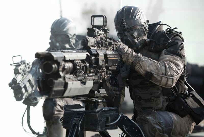 The guns in Spectral were created by Weta. Image: Legendary.