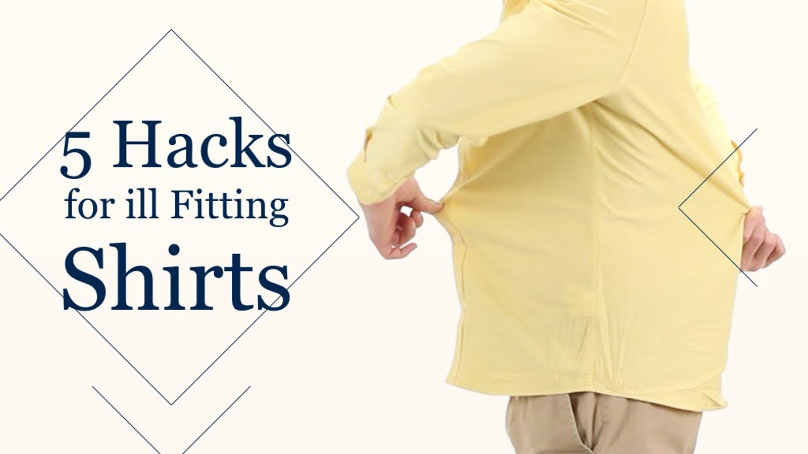 How to make a dress shirt fit tighter