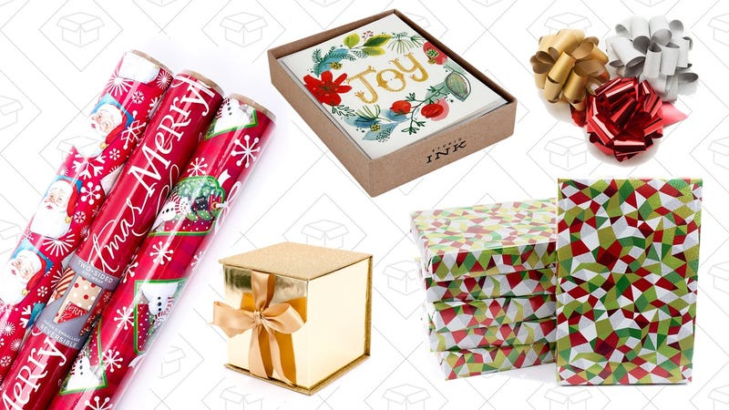 Hallmark Wrapping Paper and Greeting Card Gold Box   Amazon