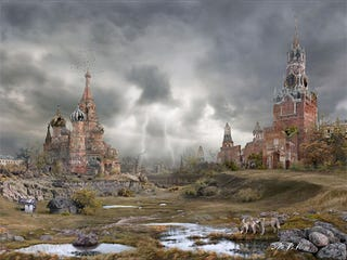 Illustration for article titled Post-Apocalyptic Moscow Looks Like A Surreal Dream-World