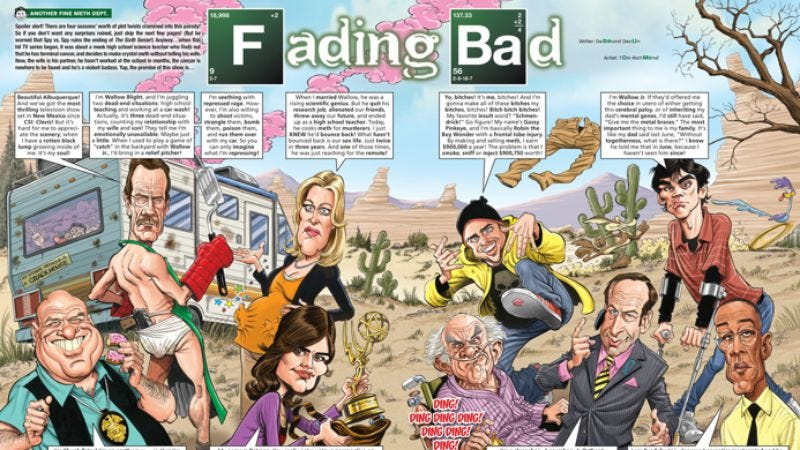 Illustration for article titled Here's an exclusive look at MAD Magazine's Breaking Bad parody