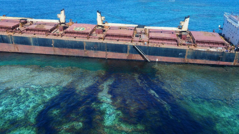 The first bauxite spill back in February.