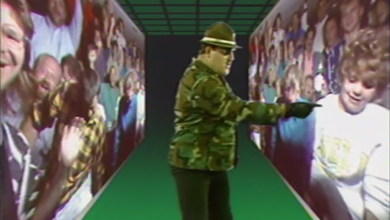 Sgt. Slaughter addresses the...crowd?