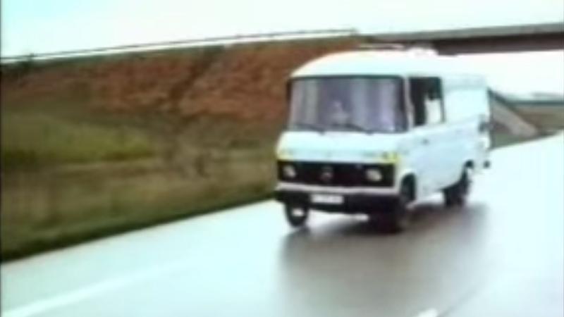 Ernst Dickmann's autonomous Mercedes van in the 1980s