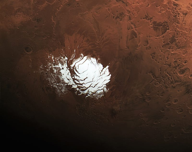 Illustration for article titled The Red Planet's Tiny South Pole