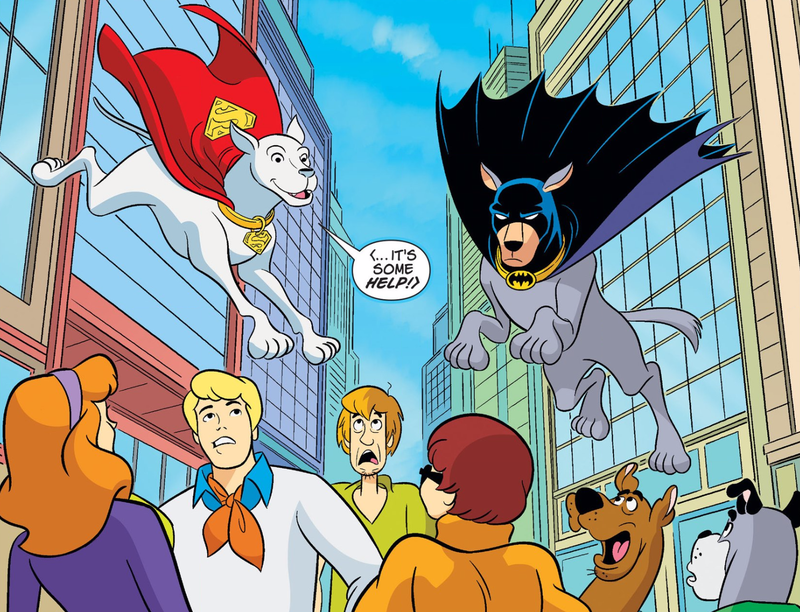 Illustration for article titled Scooby-Doo Stars in a Crisis on Infinite Mutts With Krypto and Ace the Bathound